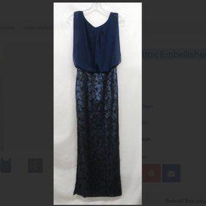 Aidan Mattox Embellished Sleeveless Maxi Dress